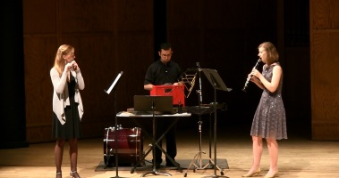 Sources Duo with flautist Erin Fleming, performing Oscar Bettison's Vamp