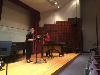 Sources Duo read student compositions in a morning master class at SUNY Potsdam